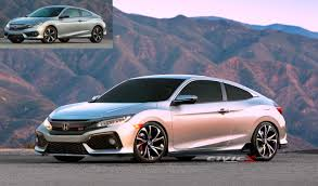New 2017 Civic Si Coupe Render