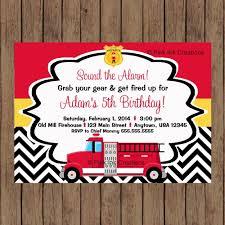 Fireman Birthday Invitation / Firetruck Invitation / Firemen Invite ...