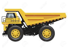 100 Large Dump Trucks Big Dump Truck Isolated On A White Background Vector Illustration
