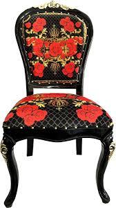 pompöös by casa padrino luxus barock esszimmerstühle roses schwarz rot gold esszimmer set 4 pompööse barock stühle designed by harald