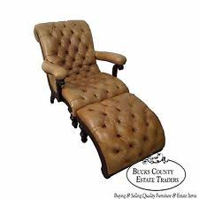 Leather Tufted Chair And Ottoman by Tufted Leather Chair Ebay