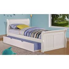 Twin Sleigh Bed with Twin Trundle Bed in White Walmart