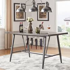 Harley Counter Height Dining Table With Wine Rack By INSPIRE Q Modern