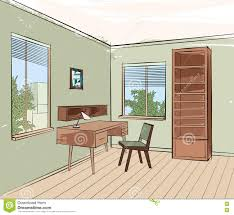 Home Interior Work Home Interior Work Place Furniture Living Room Sketch Stock