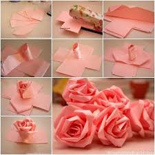 How To Make Paper Flowers Easy Roses Bows Pompom Ornament In