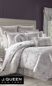 J Queen New York Curtains by Le Blanc Silver Comforter Bedding By J Queen New York Comforter