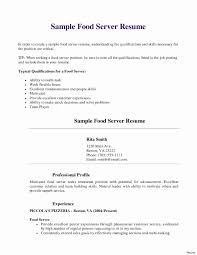 Restaurant Server Resume Examples Resumes For Servers 4 A Simple