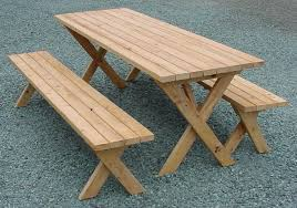 beautiful picnic table and bench folding picnic table free plans