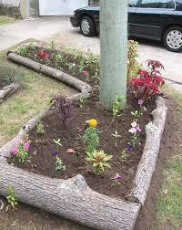 Rustic Flower Bed Borders