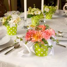 Spring Wedding Table Decor With Colourful Flowers