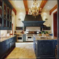 Distressed Blue Jean Cabinets Gives This Kitchen A WOW Factorwho Wouldnt Want To Slip Into And Cook