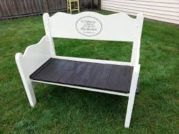 Recycled Pallet White Bench For Garden