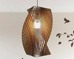 Laser Cut Lamp Dxf by Lasercut Torcido Pantalla Madera No 1 Por Baraboda En Etsy