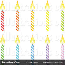 Royalty Free RF Birthday Candle Clipart Illustration by Tonis Pan Stock Sample