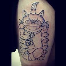 Japanese Lucky Cat Tattoo