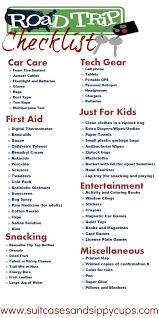 Checklists Vacation Packing Checklist Road Trip With Kids Travelt Costa Rica For Family Beach Printable Travel
