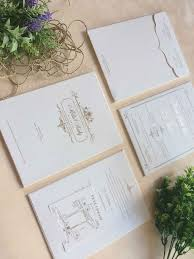 Vinas Invitation Wedding Indonesian White And Gold Foil