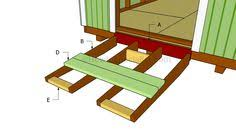 how to build a shed ramp howtospecialist how to build step by