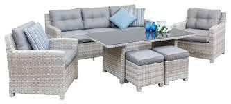 patio sofa dining set innovative outdoor dining sofa set jamaican outdoor wicker patio