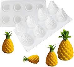 joyeee silikon backform kuchenform für muffins brownies schokolade gelee kuchen pudding seife cupcake 3d pine cone ananas silikonform für