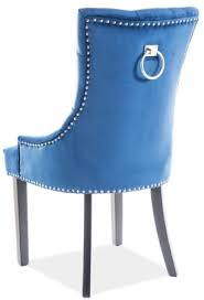 casa padrino luxus chesterfield esszimmerstuhl blau silber schwarz 55 x 45 x h 99 cm küchenstuhl mit samtstoff esszimmer möbel