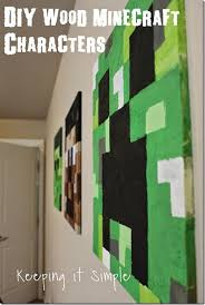 DIY Wood Minecraft Characters Create This Easy Zombie Steve And Creeper Out Of