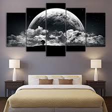 canpic leinwandbilder gedruckt 5 stücke schwarz weiß erde