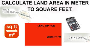 100 7m To Feet Calculate Land Area In Meter To Square Feet Land Area Calculation In Site