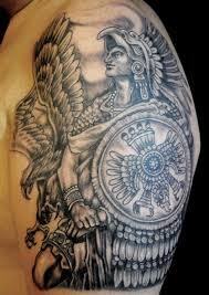 Aztec Tribal Shoulder Tattoo Meaning