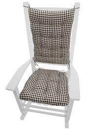 Amazon Prime Patio Chair Cushions by Amazon Com Rocking Chair Cushions Checkers Black U0026 Cream Size
