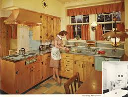 Vintage Wood Mode Kitchen Cabinets 1960s