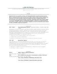Career Objective Examples For Teachers Preschool Teacher Resume Teaching