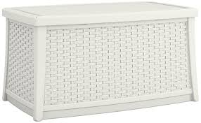 Suncast Outdoor Storage Cabinets With Doors by Amazon Com Suncast Elements Coffee Table With Storage White