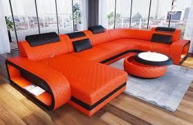 leather sectional sofa u shape