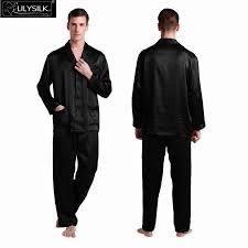 mens silk pajamas set satin chinese 22 momme pure pyjama homme