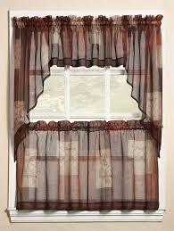 Kitchen Curtain Ideas Pictures by Eden Kitchen Curtains Multi Lichtenberg Sheer Kitchen Curtains