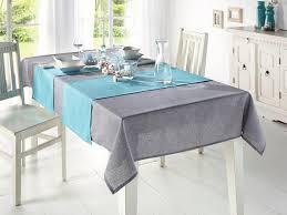 tischläufer melange türkis textil deko wohnzimmer esszimmer terrasse garten