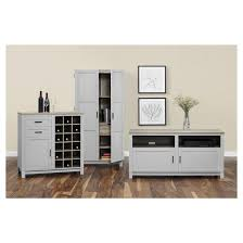 Ameriwood Storage Cabinet White by Carver 64
