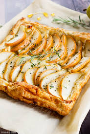 Pear Tart With Goat Cheese Rosemary Amp Honey
