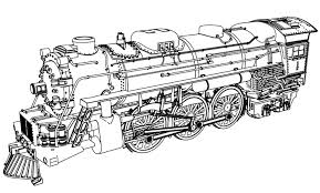 Awesome Train Coloring Page Image 6