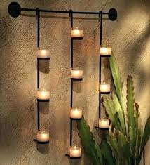 black wall candle sconces metal wall candle holders wall lights