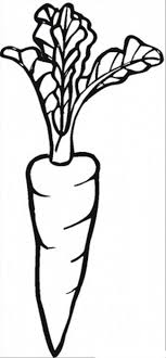 I Love Carrot Vegetable Coloring Pages