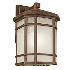 kichler 9718pr one light outdoor wall mount wall porch lights