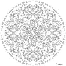Fantastic Paisley Mandala Coloring Pages With Mandela And For Adults