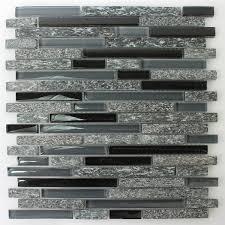mosaikfliesen glas naturstein schwarz grau