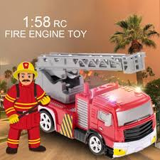 Beli Create Toys 8026 Remote Control Fire Engine Truck Toy Operated ...
