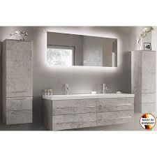modernes badmöbelset aurelion doppelwaschtisch 144 cm badset beton