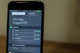 Monitor your battery percentage from Notification Center on iOS 9