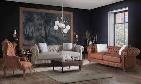 casa padrino luxus chesterfield sofa grau braun 240 x 100 x h 78 cm edles wohnzimmer sofa chesterfield möbel