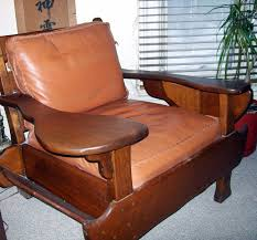 100 Cowboy In Rocking Chair Arts Crafts Mission WOOD Leather Chair Cowboy Cabin Cottage Reading